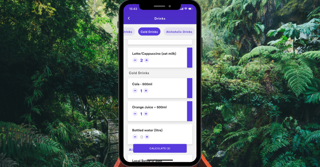 The Earth Rewards quick add feature allows anyone to add multiple drinks to their carbon footprint so they can calculate and offset their impact.